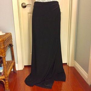 White House Black Market Black Wrap Skirt